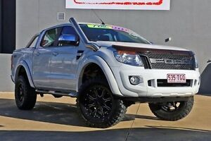 2013 Ford Ranger PX XLT Double Cab White 6 Speed Sports Automatic Utility Yeerongpilly Brisbane South West Preview