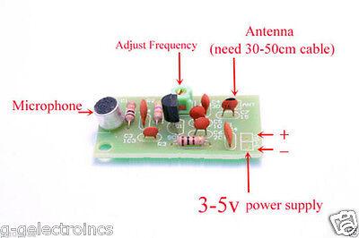 Mini Wireless Microphone Ham Fm Wireless Radio Transmitter Module 3-5v 91-103mhz