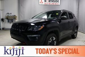 2017 Jeep Compass 4WD TRAILHAWK Navigation (GPS),  Leather,  Hea