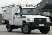 2012 Toyota Landcruiser White Manual Cab Chassis Nunawading Whitehorse Area Preview