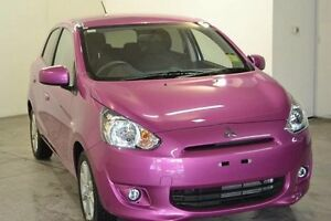 2015 Mitsubishi Mirage LA MY15 LS 19,000KMS Pink Continuous Variable Hatchback Wangara Wanneroo Area Preview