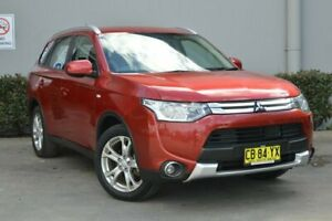 2014 Mitsubishi Outlander ZJ MY14.5 ES 4WD Red 6 Speed Constant Variable Wagon Maitland Maitland Area Preview