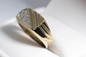 NEW 14K. SOLID GOLD & DIAMOND MAN'S RING FOR SALE