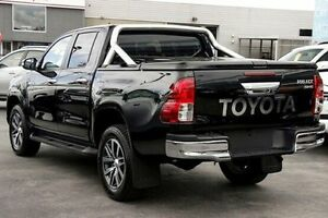 2015 Toyota Hilux GUN126R SR5 Double Cab Black 6 Speed Manual Utility Frankston Frankston Area Preview