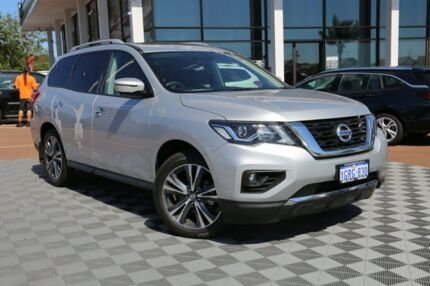 2018 Nissan Pathfinder R52 Series II MY17 Ti X-tronic 4WD Silver 1 Speed Constant Variable Wagon Alfred Cove Melville Area Preview