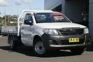 2014 Toyota Hilux TGN16R MY14 Workmate Double Cab White 5 Speed Manual Utility Gymea Sutherland Area Preview