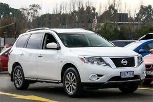2014 Nissan Pathfinder R52 MY14 ST X-tronic 2WD White 1 Speed Constant Variable Wagon Ringwood East Maroondah Area Preview