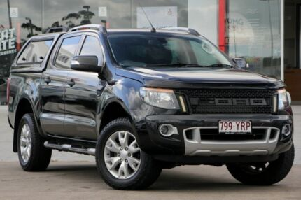 2012 Ford Ranger PX Wildtrak Double Cab Black 6 Speed Sports Automatic Utility Kippa-ring Redcliffe Area Preview