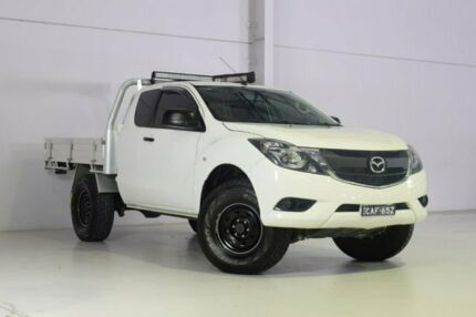 2016 Mazda BT-50 UR0YF1 XT Freestyle 4x2 Hi-Rider White 6 Speed Manual Cab Chassis Wyong Wyong Area Preview