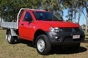 2014 Mitsubishi Triton MN MY15 GL Red 5 Speed Manual Cab Chassis Bundaberg West Bundaberg City Preview