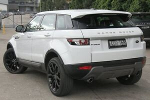 2013 Land Rover Range Rover Evoque L538 MY13 SD4 CommandShift Pure White 6 Speed Sports Automatic Petersham Marrickville Area Preview