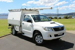 2012 Toyota Hilux KUN26R MY12 SR White 5 Speed Manual Cab Chassis Invermay Launceston Area Preview