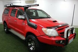 2007 Toyota Hilux KUN26R MY07 SR Red 5 Speed Manual Utility Moonah Glenorchy Area Preview