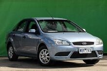 2008 Ford Focus LT LX Blue Metallic 5 Speed Manual Sedan Ringwood East Maroondah Area Preview