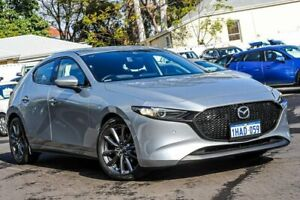 2019 Mazda 3 BP2HLA G25 SKYACTIV-Drive GT Silver 6 Speed Sports Automatic Hatchback Bayswater Bayswater Area Preview