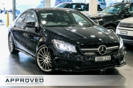 2014 Mercedes-Benz CLA45 C117 AMG SPEEDSHIFT DCT 4MATIC Black 7 Speed Sports Automatic Dual Clutch Brookvale Manly Area Preview