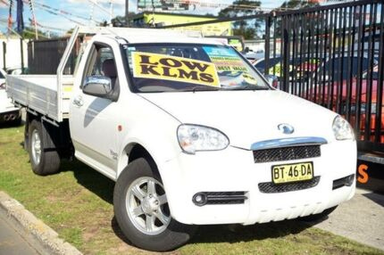 2010 Great Wall V240 K2 (4x4) White 5 Speed Manual Cab Chassis Homebush West Strathfield Area Preview