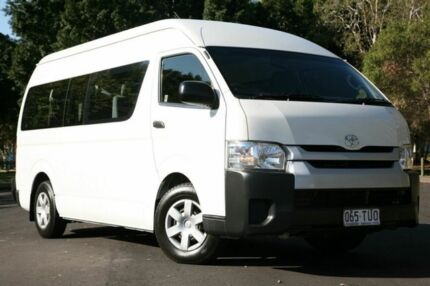 2014 Toyota Hiace KDH223R MY14 Commuter High Roof Super LWB White 4 Speed Automatic Bus Slacks Creek Logan Area Preview