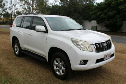 2010 Toyota Landcruiser Prado KDJ150R GXL White 5 Speed Sports Automatic Wagon Ormeau Gold Coast North Preview