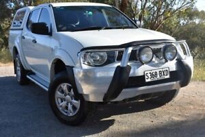 2012 Mitsubishi Triton MN MY12 GL-R Double Cab 4x2 White 5 Speed Manual Utility St Marys Mitcham Area Preview