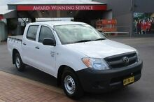 2005 Toyota Hilux TGN16R Workmate White 5 Speed Manual Dual Cab Pick-up South Maitland Maitland Area Preview
