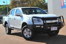 2014 Holden Colorado RG MY14 LX Crew Cab White 6 Speed Manual Utility Glendalough Stirling Area Preview