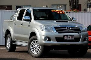 2013 Toyota Hilux KUN26R MY14 SR5 Double Cab Silver 5 Speed Manual Utility Chermside Brisbane North East Preview