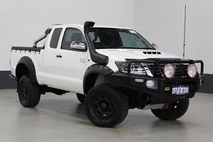 2014 Toyota Hilux KUN26R MY12 SR (4x4) White 5 Speed Manual Extracab Bentley Canning Area Preview