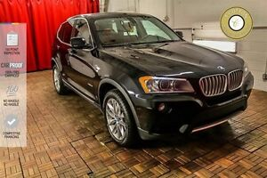2013 BMW X3 SUNROOF! NAVI! RED LEATHER!