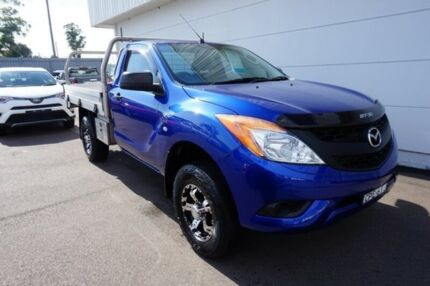 2013 Mazda BT-50 UP0YD1 XT 4x2 Hi-Rider Blue 6 Speed Sports Automatic Cab Chassis