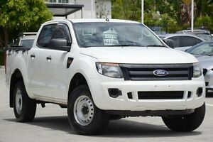 2012 Ford Ranger PX XL Double Cab 4x2 Hi-Rider White 6 Speed Sports Automatic Utility Moorooka Brisbane South West Preview