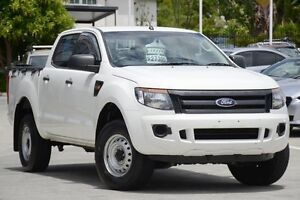 2012 Ford Ranger PX XL Double Cab 4x2 Hi-Rider White 6 Speed Sports Automatic Utility Toowong Brisbane North West Preview