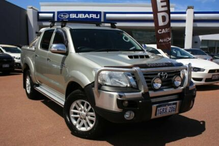 2012 Toyota Hilux KUN26R MY12 SR5 Double Cab Silver 4 Speed Automatic Utility Osborne Park Stirling Area Preview