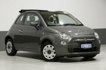 2013 Fiat 500 MY13 POP Grey 5 Speed Automatic Convertible Bentley Canning Area Preview