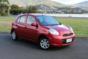 2014 Nissan Micra K13 MY13 ST Red 5 Speed Manual Hatchback Invermay Launceston Area Preview