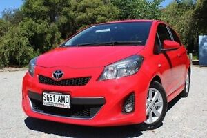 2012 Toyota Yaris NCP131R ZR Red 5 Speed Manual Hatchback Hawthorn Mitcham Area Preview