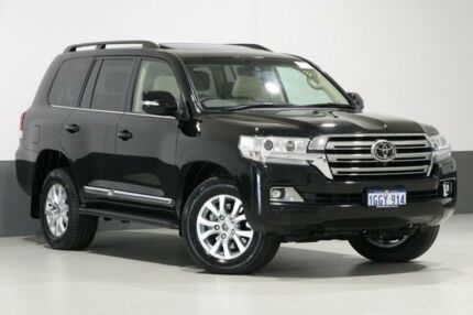 2016 Toyota Landcruiser VDJ200R MY16 Sahara (4x4) Black 6 Speed Automatic Wagon Bentley Canning Area Preview