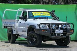 2003 Nissan Patrol GU II ST White 5 Speed Manual Cab Chassis Ringwood East Maroondah Area Preview