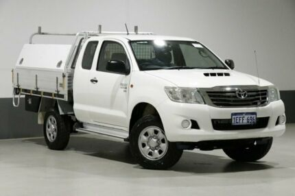 2013 Toyota Hilux KUN26R MY12 SR (4x4) White 5 Speed Manual X Cab Cab Chassis Bentley Canning Area Preview