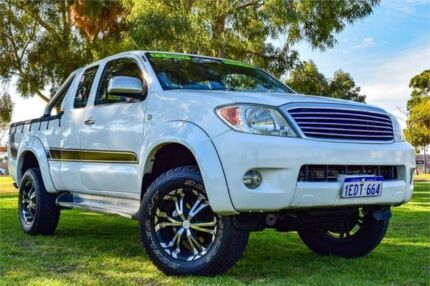 2008 Toyota Hilux GGN25R MY08 SR5 White Manual Utility Greenfields Mandurah Area Preview
