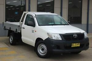 2013 Toyota Hilux TGN16R MY14 Workmate White 4 Speed Automatic Cab Chassis Blacktown Blacktown Area Preview