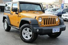 2014 Jeep Wrangler JK MY2014 Sport Vintage Gold 6 Speed Manual Softtop Northbridge Perth City Preview