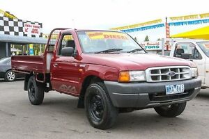 2001 Ford Courier PE XL Super Cab Burgundy 5 Speed Manual Cab Chassis Ringwood East Maroondah Area Preview