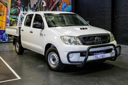 2010 Toyota Hilux KUN16R MY10 SR White 5 Speed Manual Utility