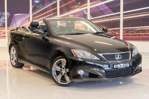 2009 Lexus IS250 C GSE20R MY10 Sports Luxury Black 6 Speed Sports Automatic Convertible Blacktown Blacktown Area Preview