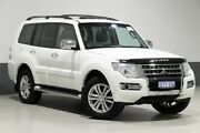 2015 Mitsubishi Pajero NX MY15 Exceed LWB (4x4) Pearl White 5 Speed Auto Sports Mode Wagon Bentley Canning Area Preview