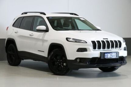 2015 Jeep Cherokee KL MY15 Blackhawk (4x4) White 9 Speed Automatic Wagon Bentley Canning Area Preview