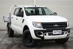 2011 Ford Ranger PX XL Double Cab White 6 Speed Sports Automatic Cab Chassis Seaford Frankston Area Preview