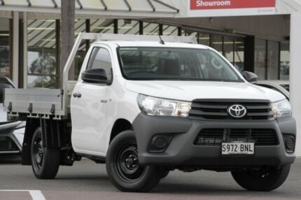 2016 Toyota Hilux TGN121R Workmate Glacier White 6 Speed Sports Automatic Cab Chassis