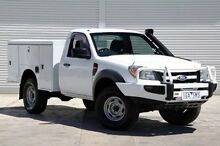 2009 Ford Ranger PK XL White 5 Speed Manual Cab Chassis Cranbourne Casey Area Preview